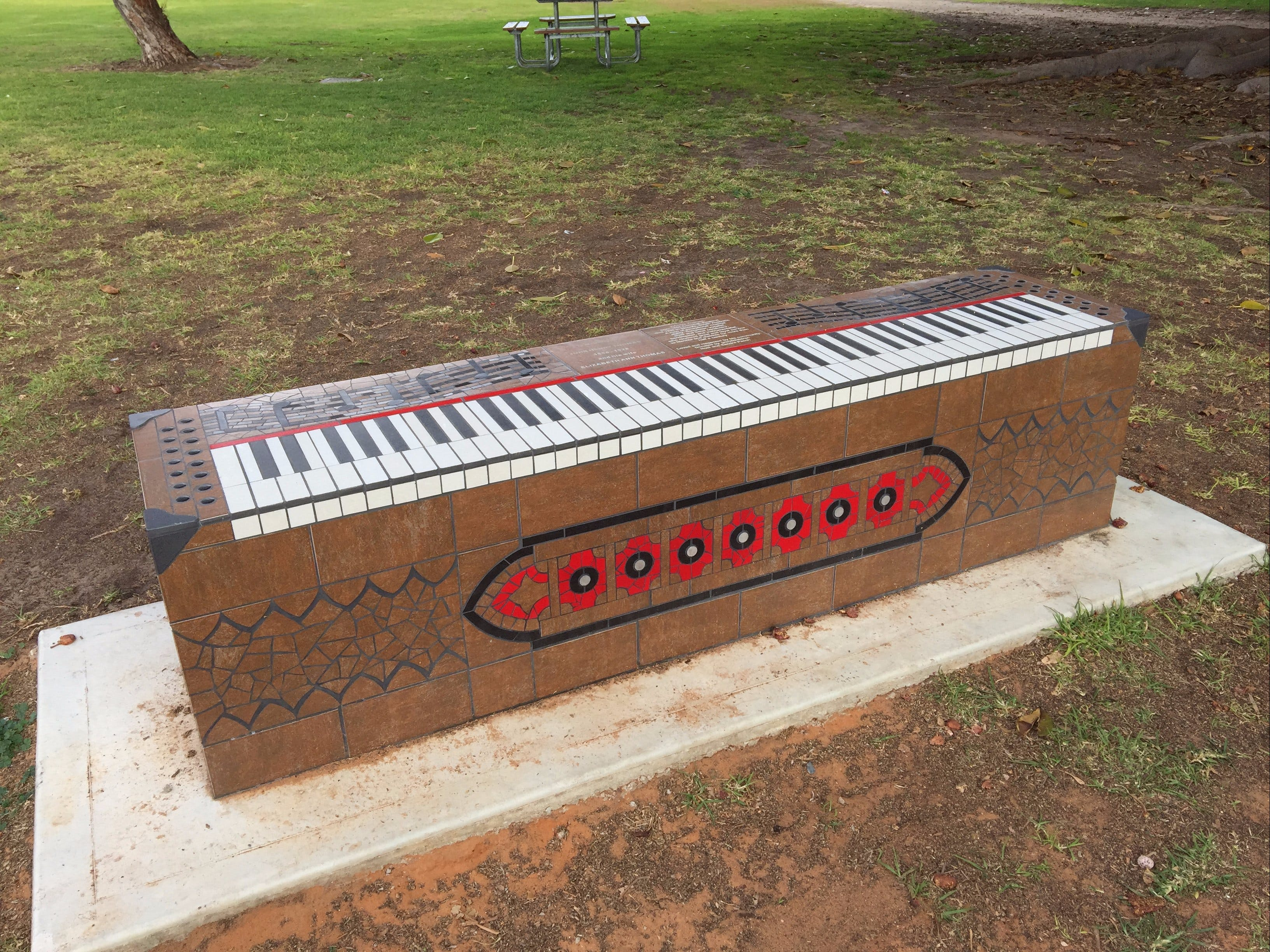 Piano Park Bench Moonta - Accommodation Fremantle