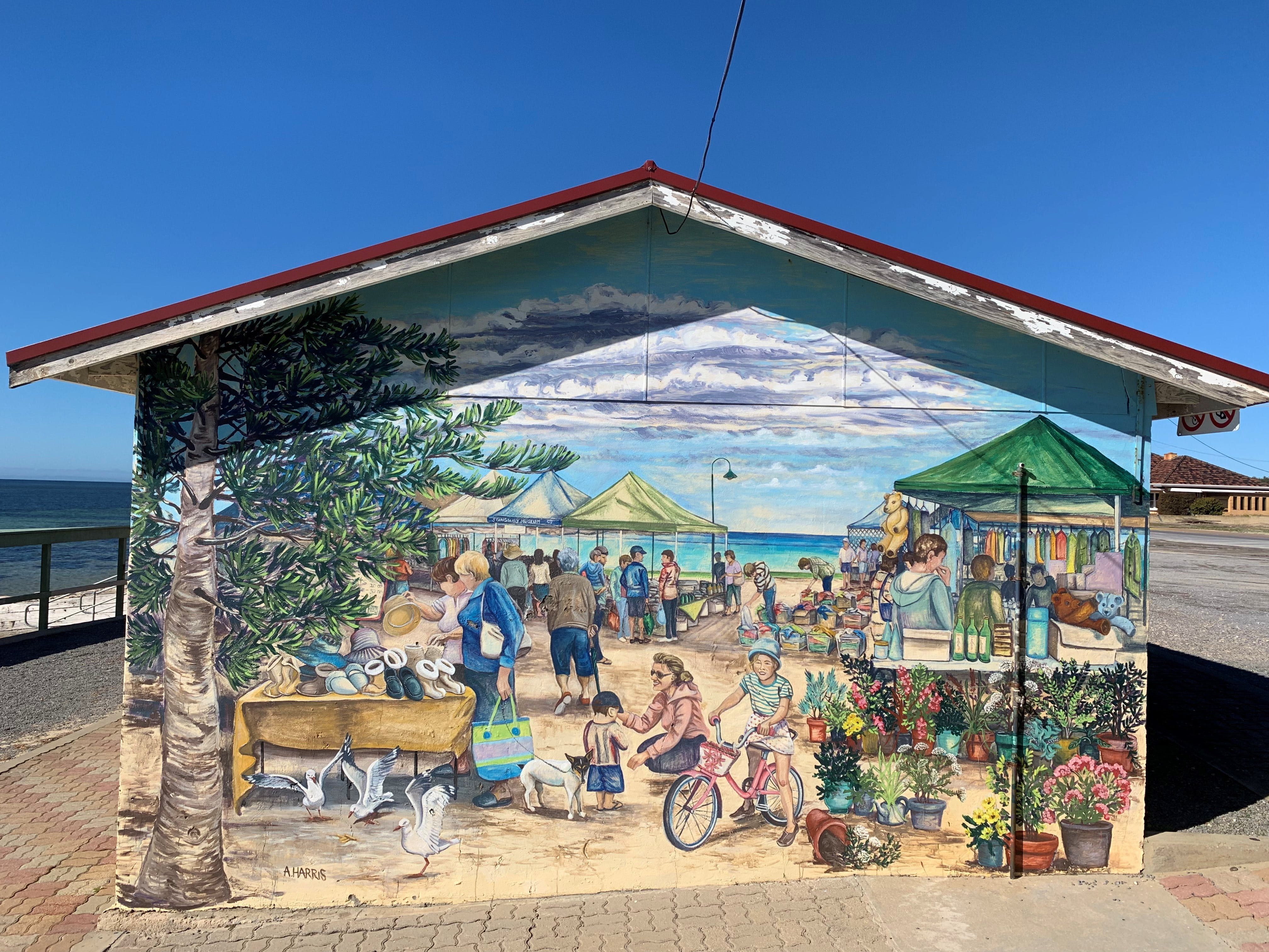 Stansbury Foreshore Murals - Accommodation Fremantle