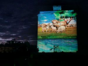 Quorn Silo Light Show - Accommodation Fremantle