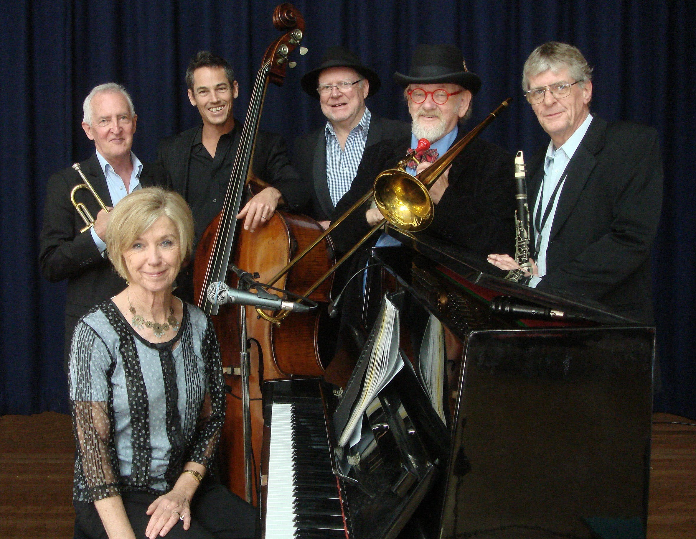 The Caxton Street Jazz Band in the Swigmore Hall at Robert Channon Wines - Accommodation Fremantle