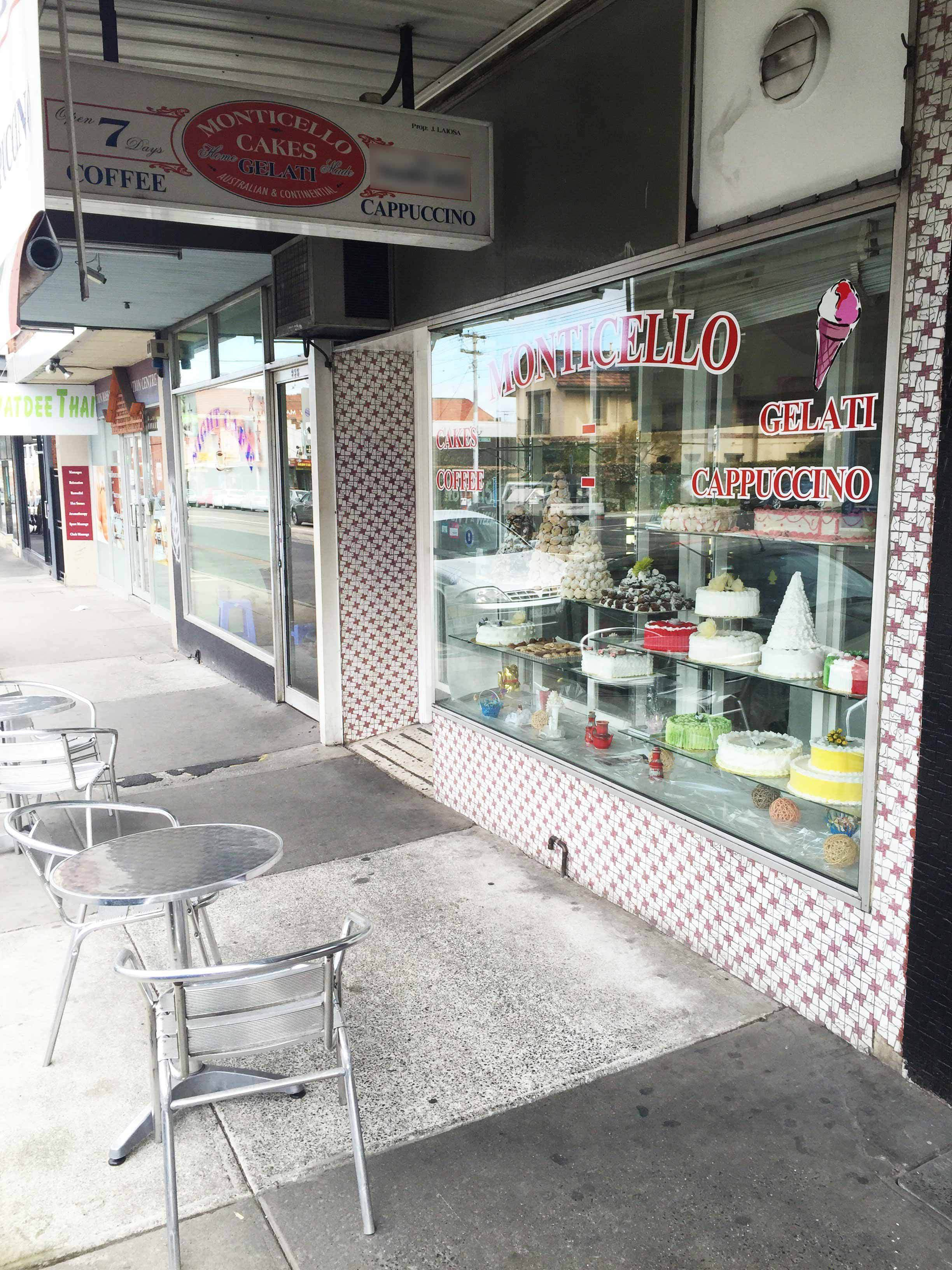 Monticello Cakes  Continental Gelati - Accommodation Fremantle