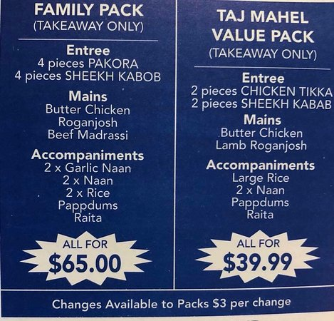 Taj Mahal Indian Restaurant - Accommodation Fremantle